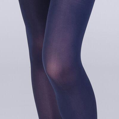 Collant opaque velouté spécial sneakers bleu marine 50D-DIM