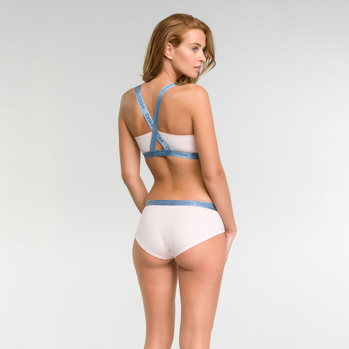 Pink triangle bra in cotton  - Les Pockets Limited Edition, , DIM