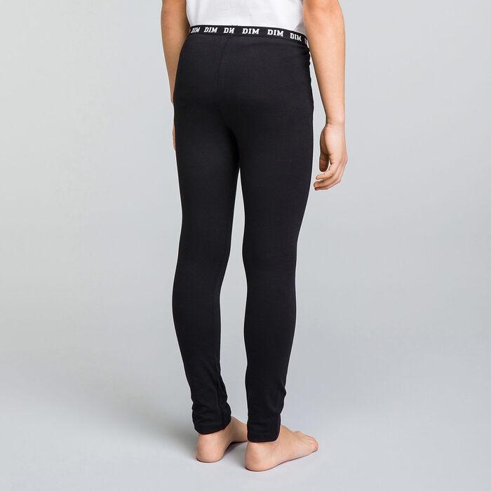 Black DIM Girl cotton leggings - DIM