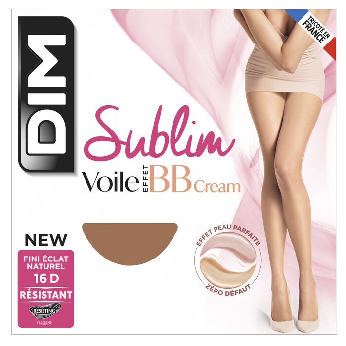 Sublim BB Cream Effect sheer voile tights in rosy beige 16D, , DIM