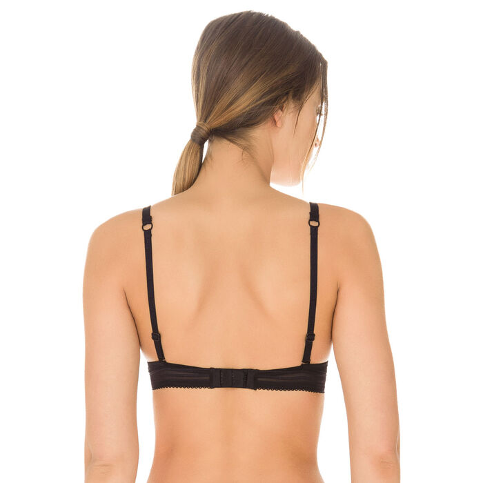 Black Invisi Fit push-up bra, , DIM