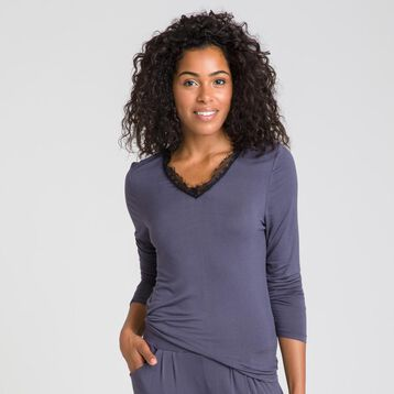 Pure Essential grey long-sleeve T-shirt  - DIM