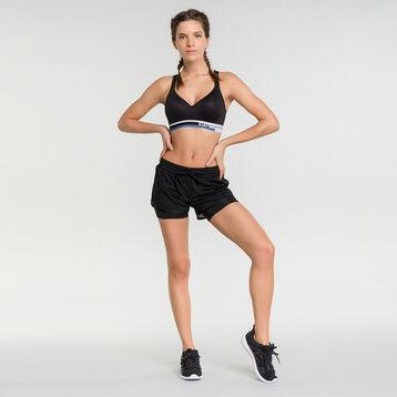 Black run sport shorts- Dim Sport, , DIM