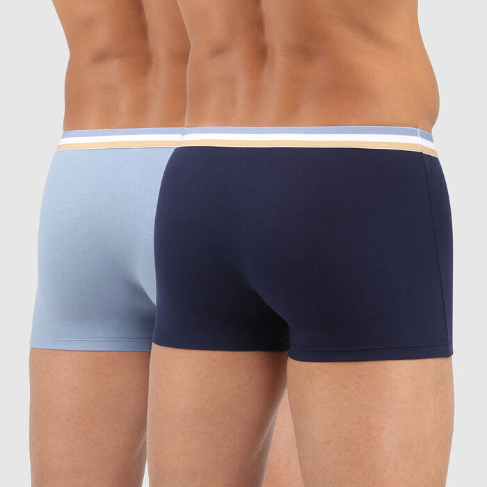 Lot de 2 boxers coton stretch ceinture tricolore bleu arctic EcoDIM, , DIM