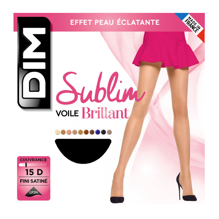 Sublim Voile Brillant 15 sheer shine tights in black, , DIM