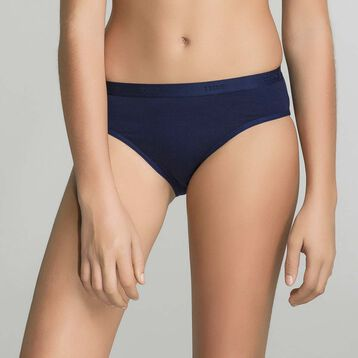 3 pack navy blue briefs for Girl - Pocket Stripes, , DIM
