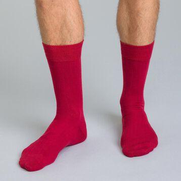 Chaussettes unies bordeaux en coton Homme-DIM