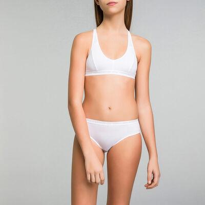 Комплект из 2 трусиков белого цвета для девочки - Pocket Micro, , DIM