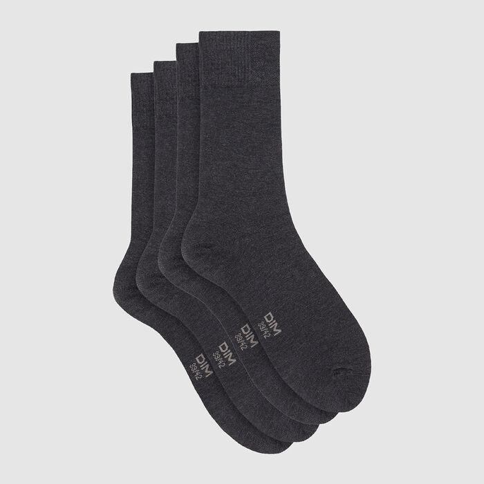 Lot de 2 paires de chaussettes en viscose anthracite chiné Dim Bambou, , DIM