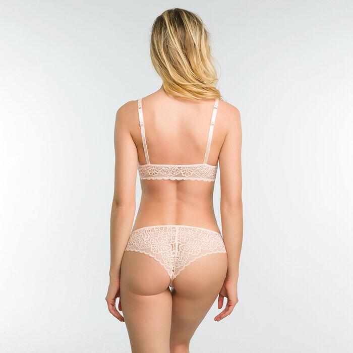 Lace pink non-wired bra - Dim Sublim, , DIM