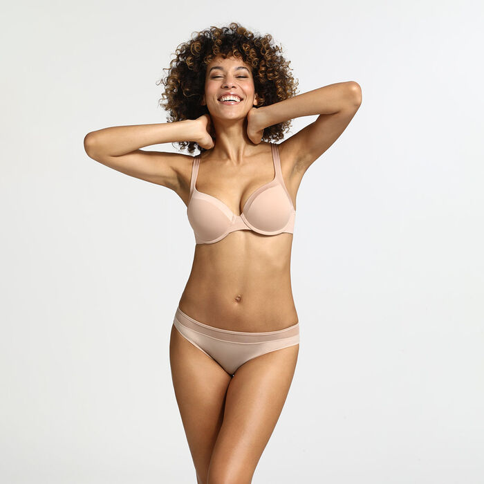 Generous Invisible New Skin padded  underwire bra, , DIM
