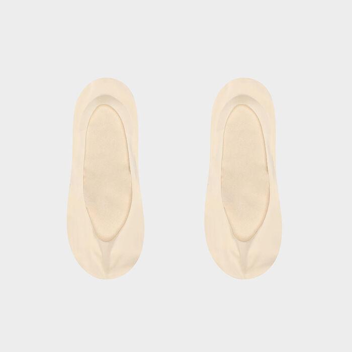 Набор 2шт.: Следки из натуральной ткани Dim InvisiFit, , DIM