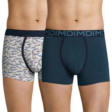 Lot de 2 boxers homme imprimé citron & bleu klein - Dim Mix & Fancy, , DIM
