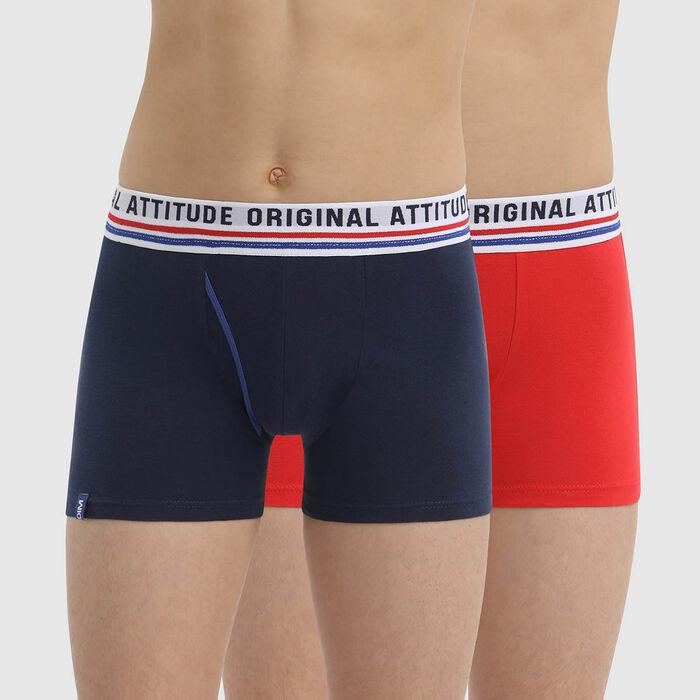 Dim Originals Boy's Retro Style Cotton Stretch boxers 2-Pack, , DIM