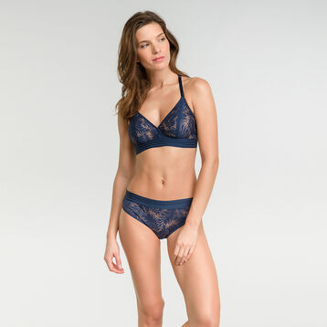 Dark blue lace wireless triangle bra - MOD de Dim  , , DIM
