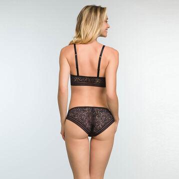 Women's Black Lace and Microfiber Briefs Sublim Fashion, , DIM