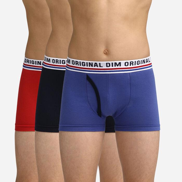 Calzoncillos azules, negros y rojos para niños Dim Original, , DIM