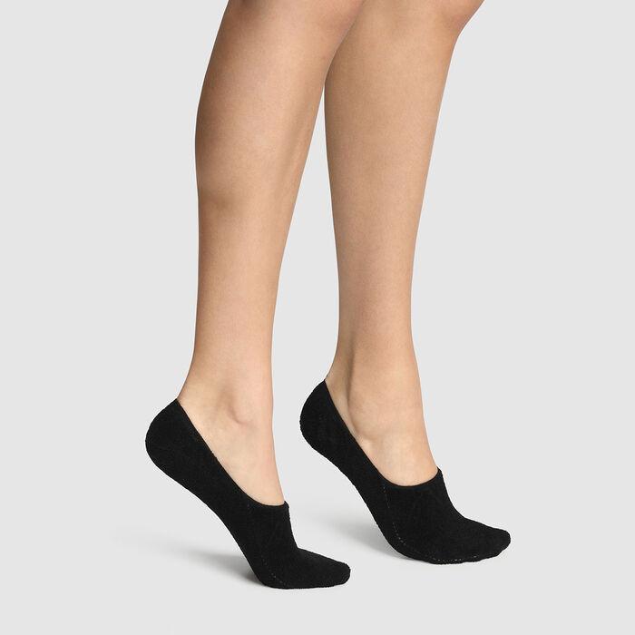 Dim black Thermo Warmth & Softness InvisiFit foot sock, , DIM