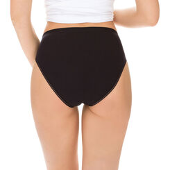 Lot de 2 slips noirs midi Femme Pur Coton-DIM