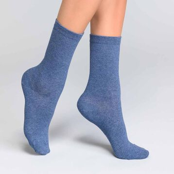Blue jeans women's socks in cotton - Dim Basic Coton, , DIM