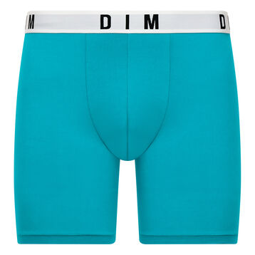 Acqua blue long trunks in cotton and modal - DIM Originals, , DIM