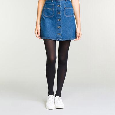 Black Diam's Jambes Fuselées 70 blackout leg shaper tights, , DIM