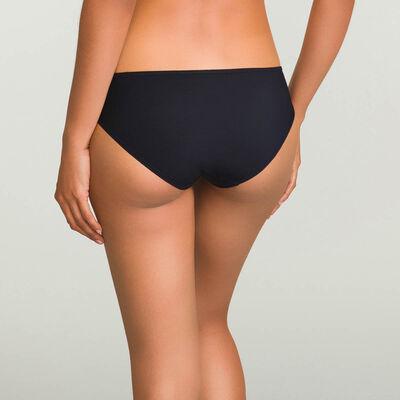 Generous microfibre bikini knickers in black, , DIM