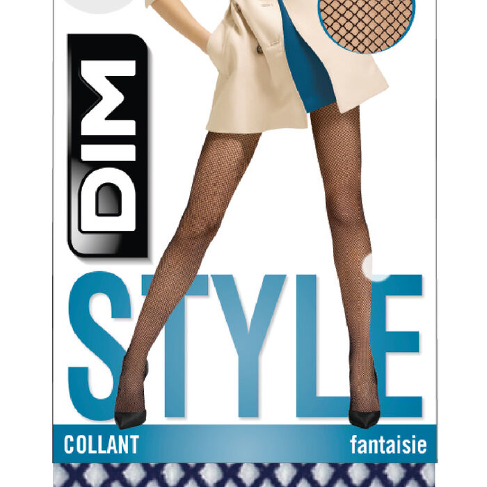 Navy Style fishnet tights, , DIM