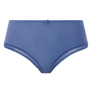 Porcelain blue microfiber shorty Micro Lace Panty Box, , DIM