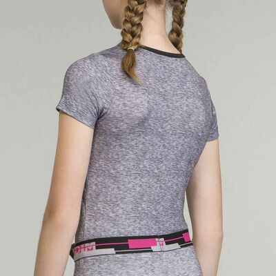 Girl's sports  grey t-shirt, , DIM