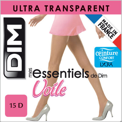 Collant voile transparent ambre Mes Essentiels de DIM 15D, , DIM