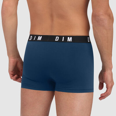 Dim Originals modal cotton trunks in Seal Rocks bluish green with plain waistband, , DIM