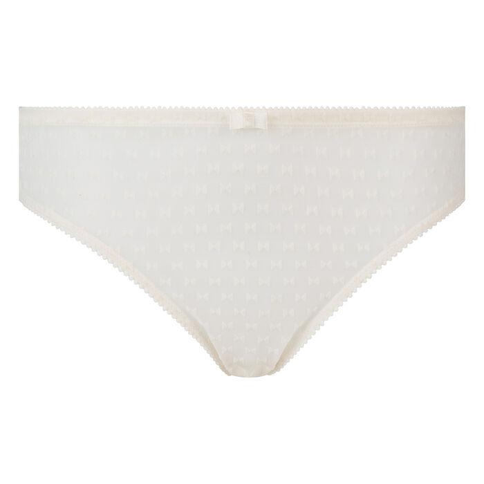 Dim Chic Line pearl velvet bow print tulle briefs , , DIM