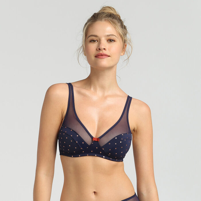 Generous Limited Edition wireless bra with sparkly polka dots, , DIM