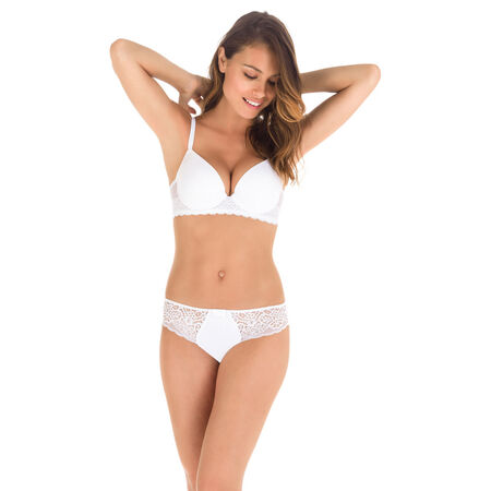 74d158eb75 Sublim Dentelle lace padded demi-cup bra in white