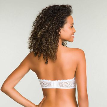 Sublim Dentelle White Full Cup Lace Bandeau , , DIM