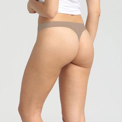 Pack of 2 New Skin Microfiber Thongs for Women, , DIM
