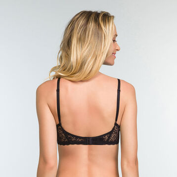 Push-up Triangle Bra in Black Lace Daily Glam Trendy Sexy, , DIM