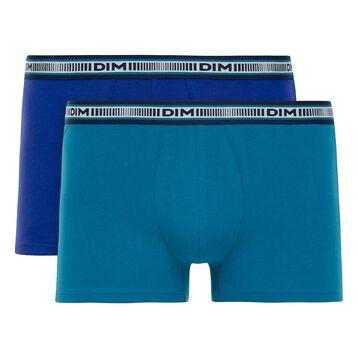 Lot de 2 boxers bleus 3D Flex Classique-DIM