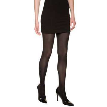 Black DIM Signature Semi-Opaque Douceur 40 velour tights, , DIM