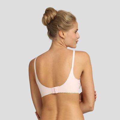 Sujetador triangular sin aros rosa New Body Touch Libre de Dim, , DIM