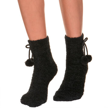Black Cocoon mid calf socks for women, , DIM