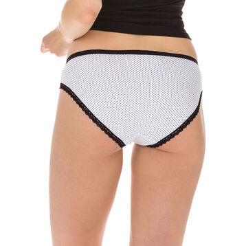 Lot de 2 slips noir et blanc Les Pockets Coton Fantaisie-DIM