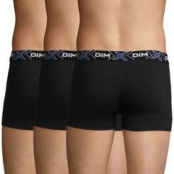 3 Pack X-Temp men's stretch cotton trunks in black , , DIM