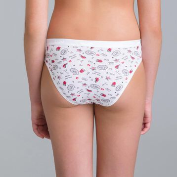 Set of 3 DIM Girl Pocket SKETCH boulder grey knickers - DIM
