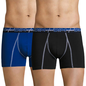 Lot de 2 boxers 3D Flex Dynamic bleu et noir-DIM