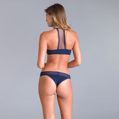 Table Panties midnight blue Brazilian briefs - DIM