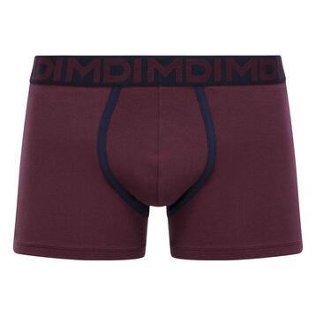 Men's stretch cotton trunks in Purple Grape Mix & Fancy, , DIM