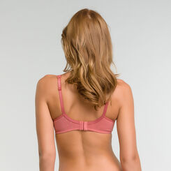 Full cup pink bra with golden dotted swiss - Dim Generous, , DIM