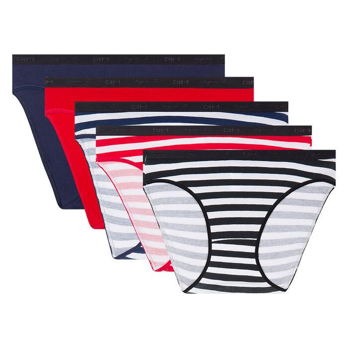 Lot de 5 culottes à rayures Les Pockets Agnès B. x Dim, , DIM